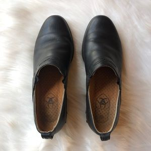 ARIAT Leather Western Paddock Clogs Shoes, 6.5 B